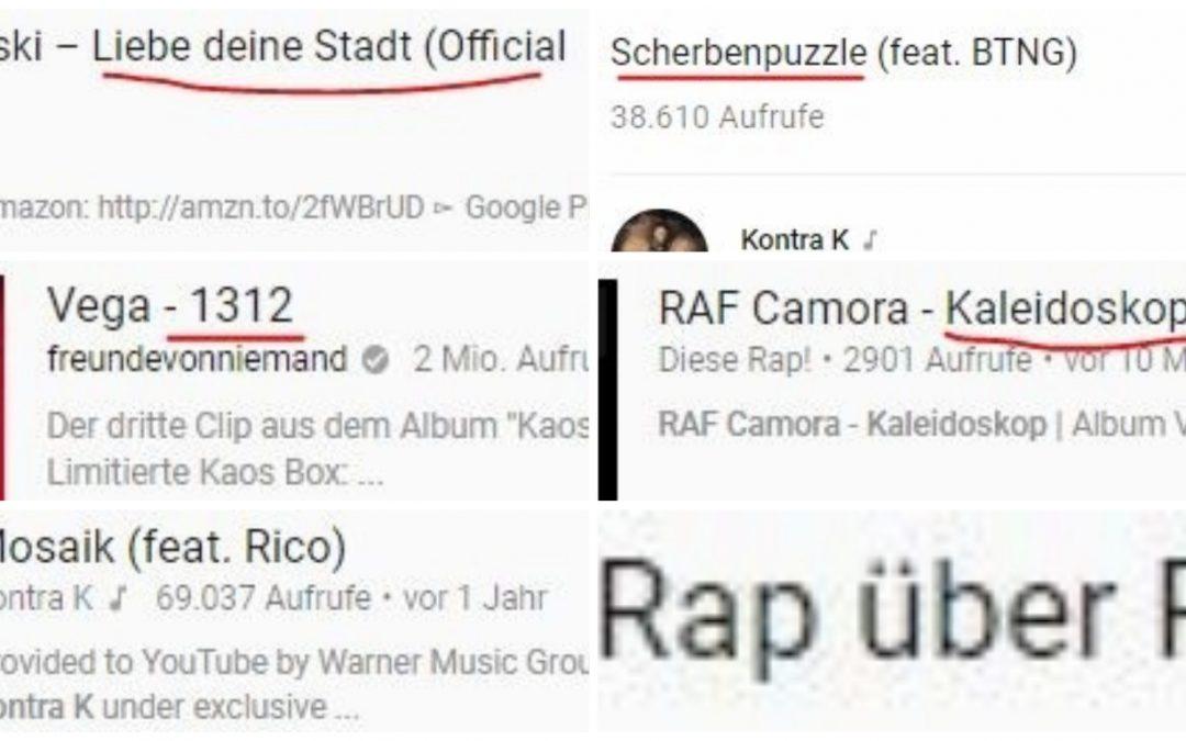Songs, die jeder Rapper schon mal geschrieben hat