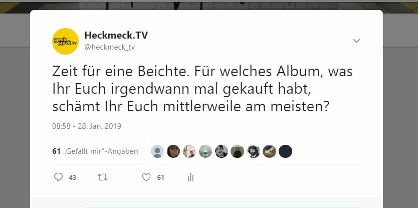 Heckmeck.TV Beichtstunde: Die Album-Fehlkäufe